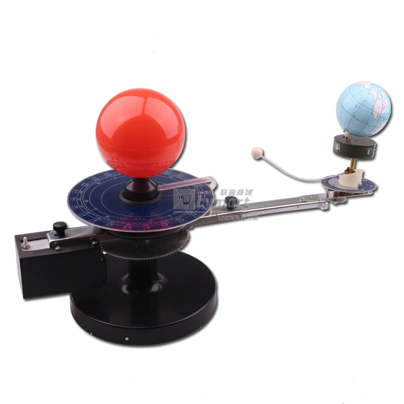 Hot Sale Cheap three Globes Sun Earth Moon Model with light Orbital Planetarium demonstrator