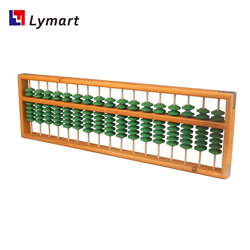 Custom Teacher teaching demonstration big abacus with plastic jade green color bead