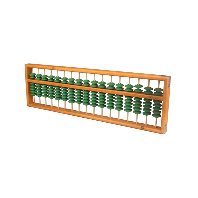 Plastic beads wooden frame Demonstration big antique tutor abacus Soroban