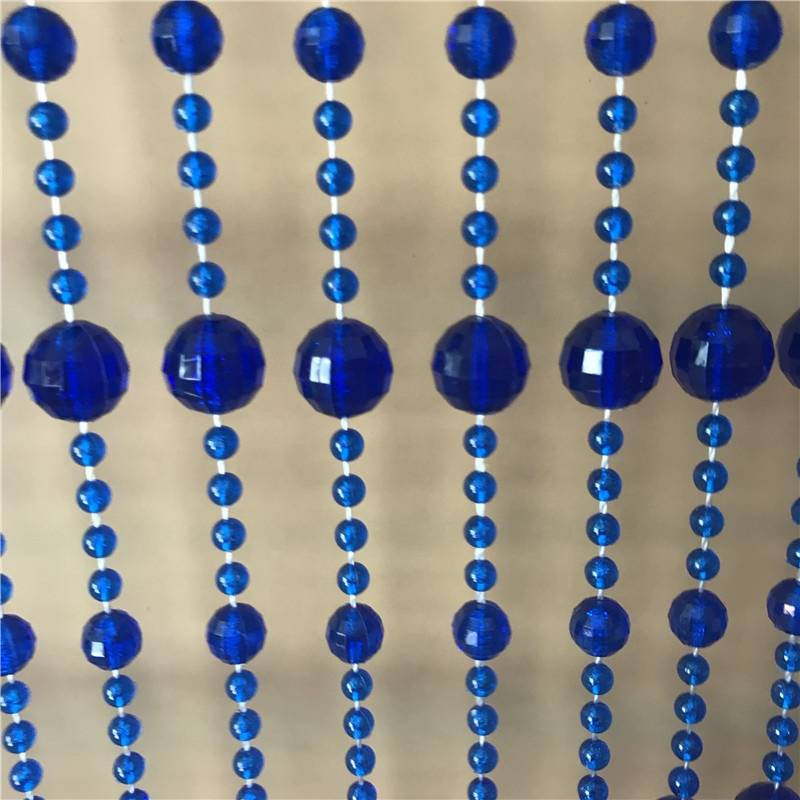 Blue Clear Color Beaded Outdoor Valance Bubble Crystal Plastic Beads Curtains For Doorways