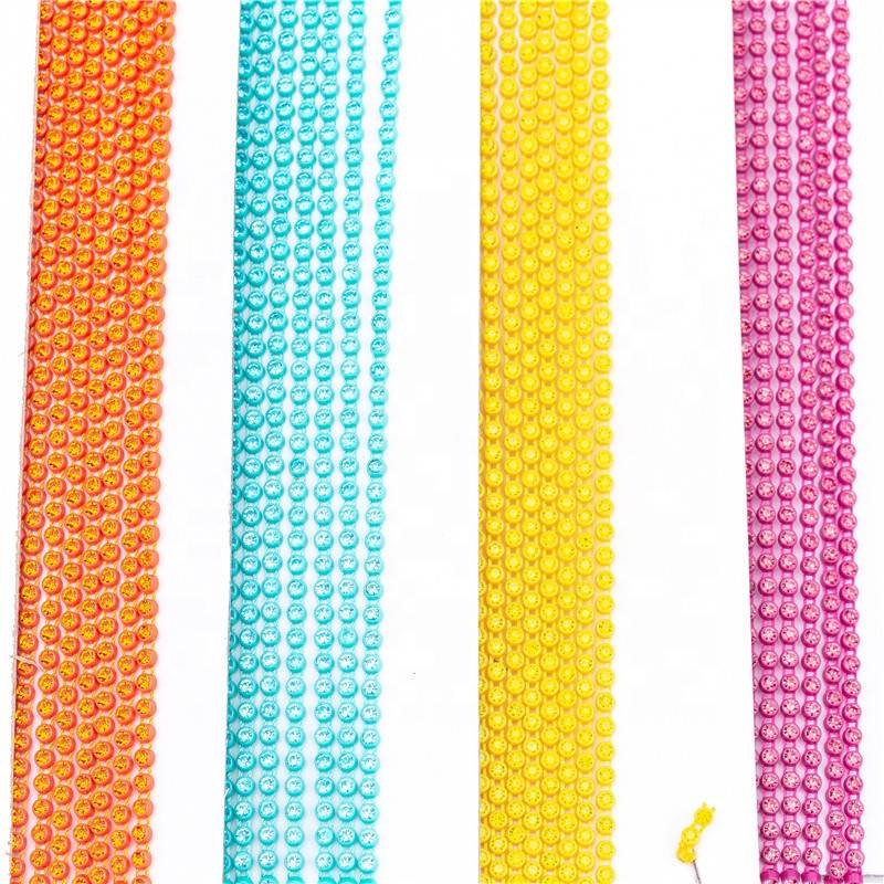 Wholesale High Quality SS6 SS8 Cup Chain Rhinestone Trim by the Yard