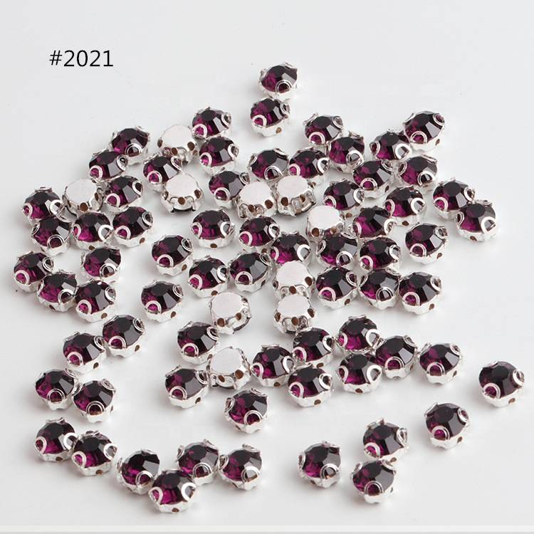Crystal Sew on Colorful Rhinestones with Claw for Garment