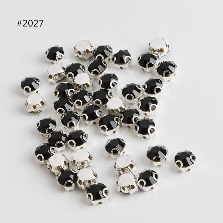Best Quality Loose 5mm Sew on Crystal 3D Claw Rhinestone