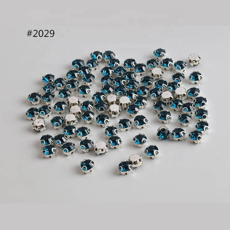 Sew on Rhinestone 3D Claw AB Crystal 8mm Stone