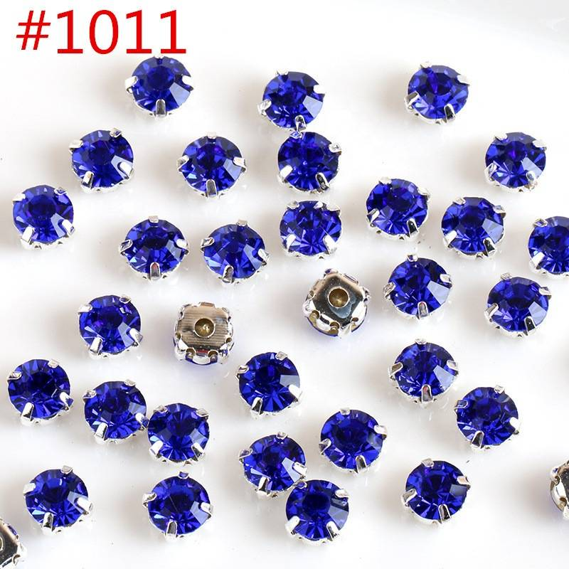 Shinning Glass Stone Sew on Crystal Rhinestones with Strass Claw