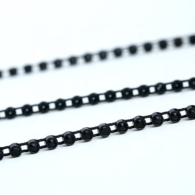 SS6 SS8 RHINESTONE BANDING CRYSTAL FANCY STONE CHAIN TRIMMING FOR DRESS Featured Image