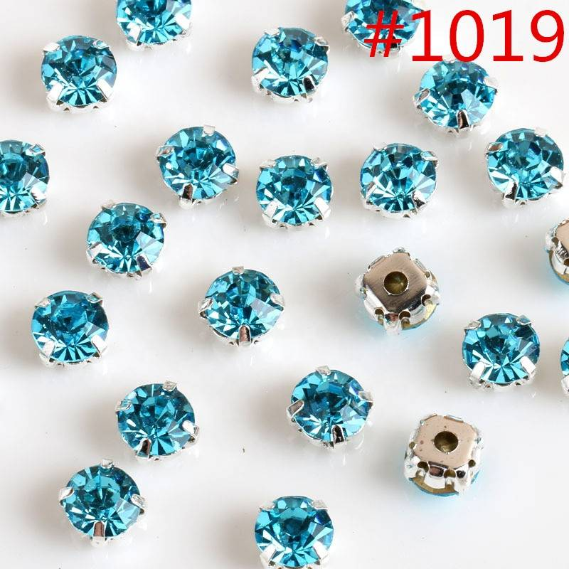 Bulk Crystal Sew on Colorful Rhinestones with Claw For Shoes Accessories