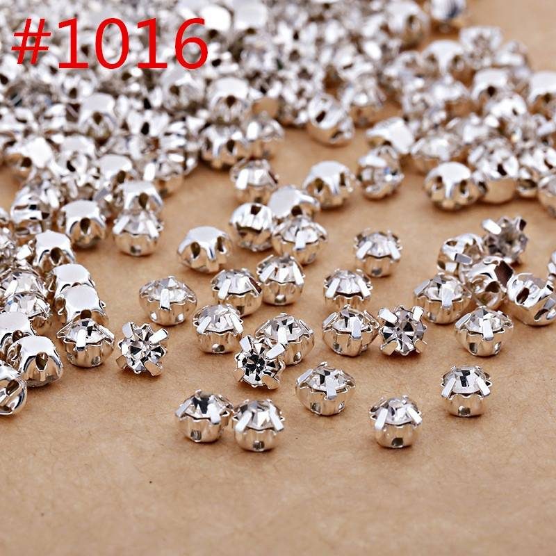 Wholesale Point Back Sew on Crystal Rhinestones with Metal Claw for Sewing