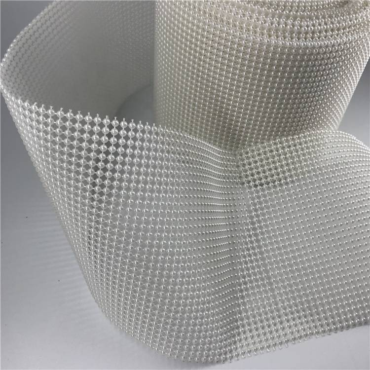 Popular Plastic Rhinestone Mesh Ribbon Decorative Pearl Round Featured Image