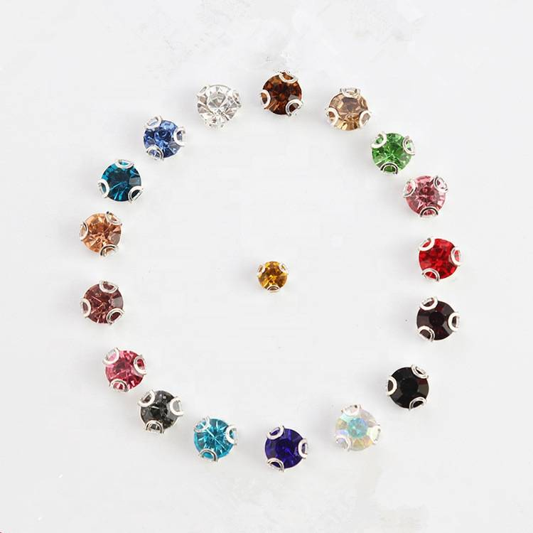 Wholesale Crystal Sew on Colorful Rhinestones with Claw For Garment Accessories
