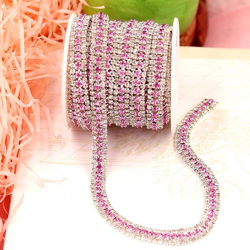 Factory Price Rhinestone Trimming One Roll in Bulk rhinestones Cup Chain