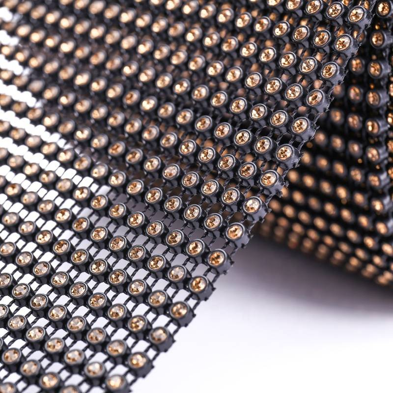 Low MOQ and High Quality Customized Cup Chain Mesh Rhinestone Trim
