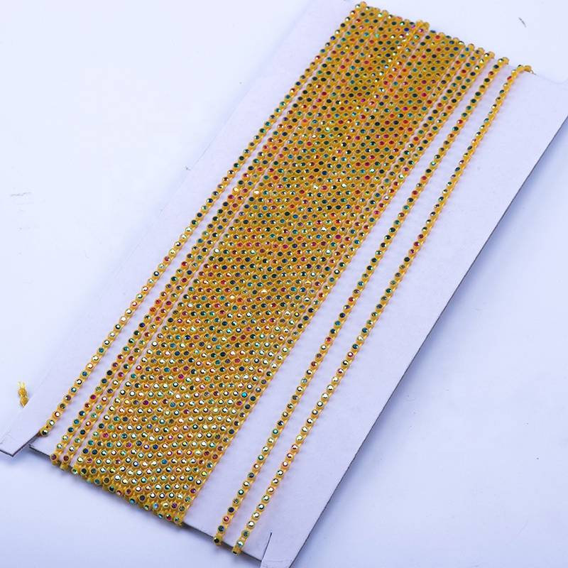 2.7mm Custom and Wholesale Clothing Decoration and Decoration Yellow Bottom AB Color Rhinestones