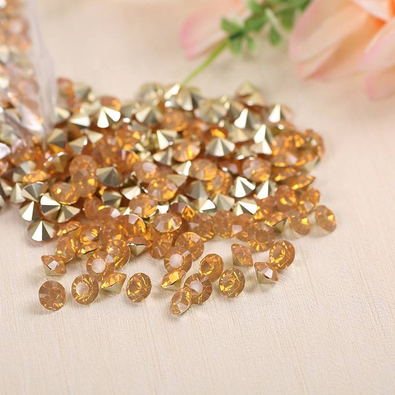 Wholesale Pointback Glass Crystal Rhinestone Opal SS38