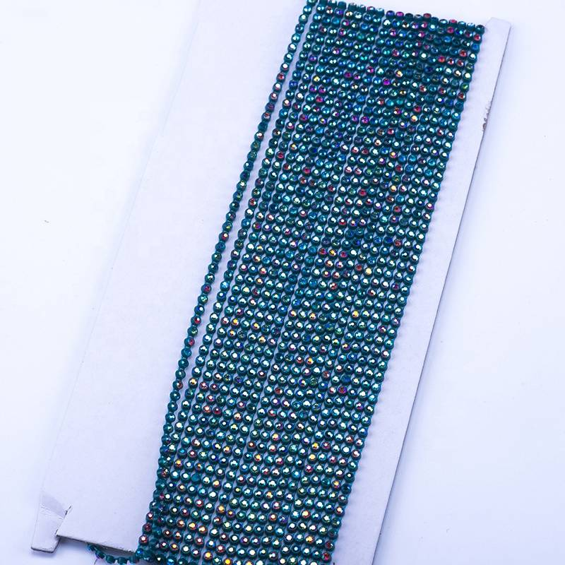 3.1mm Custom and Wholesale Clothing Decoration and Decoration Green Bottom AB Color Rhinestones
