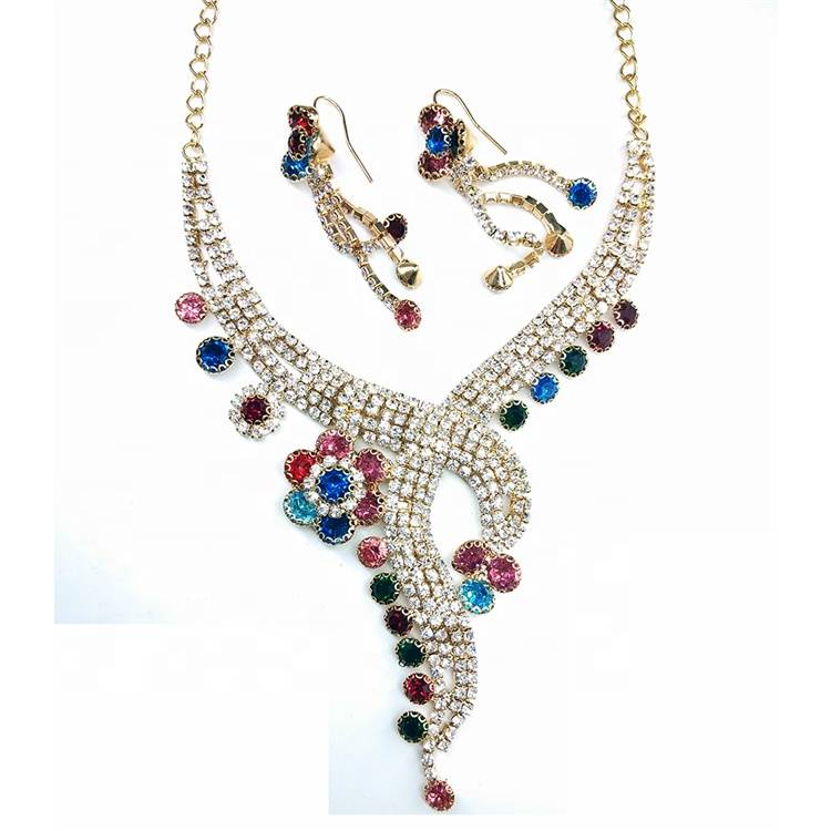 Fashion 2019 good price women european rhinestone crystal necklace chain