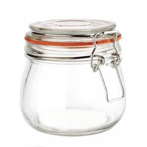 [Copy] 16OZ 500ml Clear Glass Clip Jar for Food...