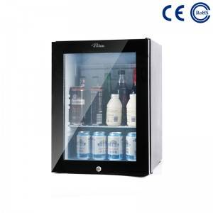 Glass Door Hotel and Home Use Mini Beverage Fridge M-25T