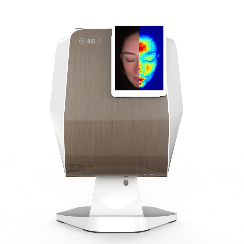 Professional Skin Analyser Golden Color For Facial Spa