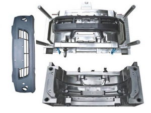 Automobile bumper and injection molding