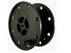 Plastic reels for cable and wire