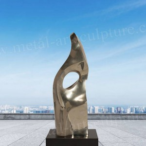 Metal Abstract Sculpture with Golden Color as Patio Decoration,Great Corrosion Stability