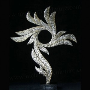 Large Outdoor Metal Sculptures Metal Garden Flowers Art Stainless Steel Statue
