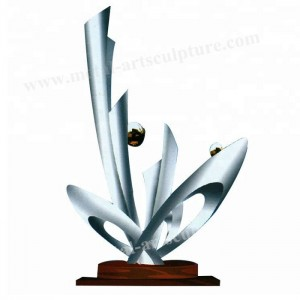 Abstract Style Outdoor Metal Art Sculpture As Modern Garden Decorative Artwork