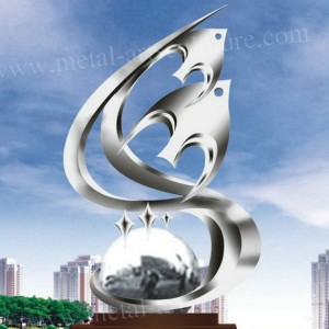 Circle Sculpture Stainless Steel Sculpture Handmade Mirror Statues Outdoor Decor