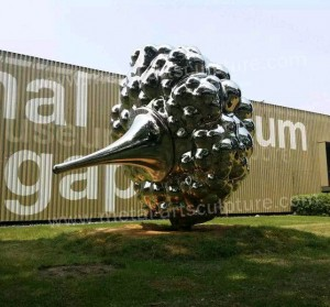 Stainless Steel Garden Sculptures Steel Sculpture Singapore Restaurant Decoration