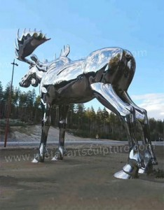 Modern Art Wapiti Sculpture Outdoor Ornament