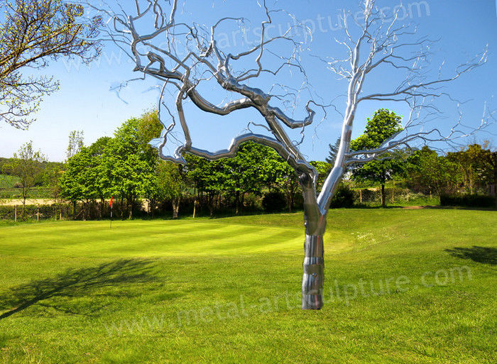 Metal Tree Famous Abstract Sculptures Matte Surface Creative Withered Effect