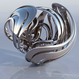 Mirror Abstract Stainless Steel Sculpture Ornament