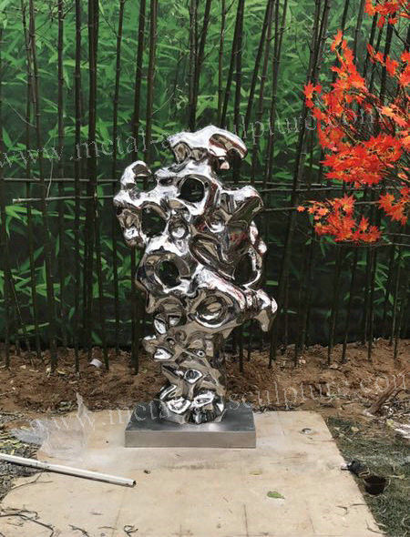 Garden Decor Abstract Metal Sculpture , Art Shape Contemporary Abstract Sculpture