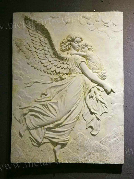 Western Art Wall Relief Sculpture / Clay Relief Sculpture Wall Ornaments