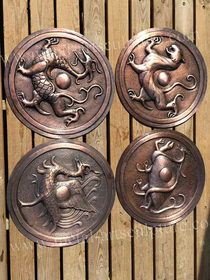Handmade Brass Famous Relief Sculpture Size Customized Western Style Wall Ornament