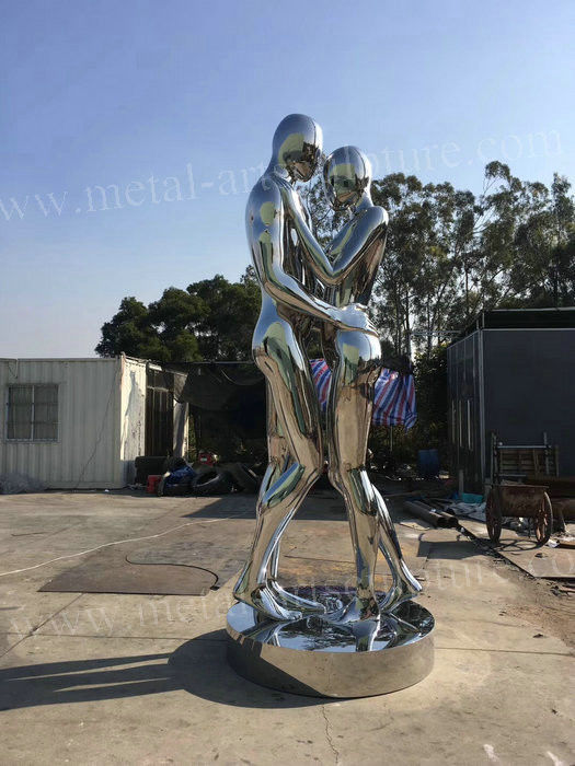 316L Stainless Steel Modern Outdoor Sculpture Outdoor Wrought Love Statue