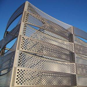 Perforated Metal Cladding Keeps the Building from Weather Damage