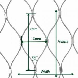 Stainless Steel Ferrule Rope Mesh with Great Strength