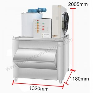 1000kg/day flake ice machine + 400kg ice storage bin.