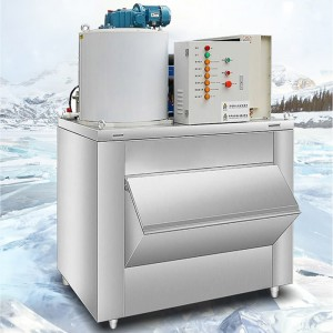 500kg/day flake ice machine + 300kg ice storage bin.