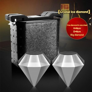 Diamond ice molds