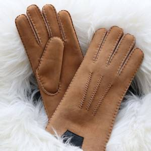 Classical handmade Sheepskin suede letather glvoes for men