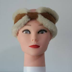 Classical sheep shearling head bands
