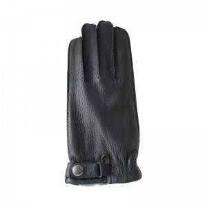 Deerskin casual stylish handsewn gloves with three points