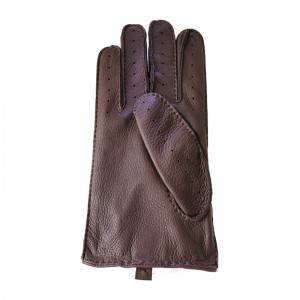Deerskin driving fashion gloves with handsewn
