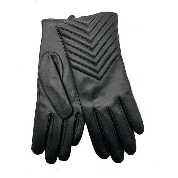 Ladies sheep leather gloves with wavy stitches Featured Image