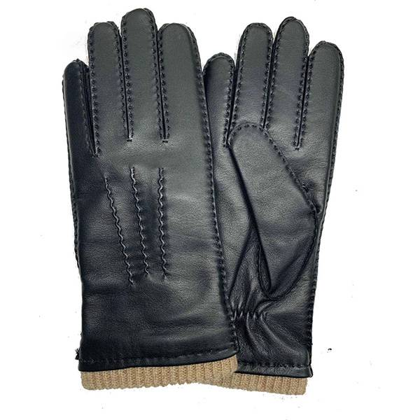 Men lamb/sheep leather fleece lined winter gloves with handsewn Featured Image
