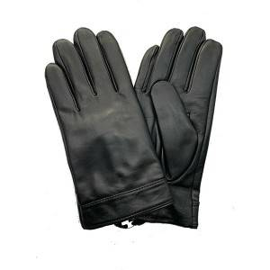 Fast delivery Lambskin Driving Gloves - Men lamb/sheep leather cashemere lined gloves with natural black – Fanshen