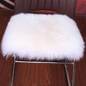 Genuine Lambskin Sheepskin Long Wool Cushion For Chair/Sofa Chair Pads